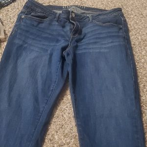 Aeropostale dark wash skinny jeans
